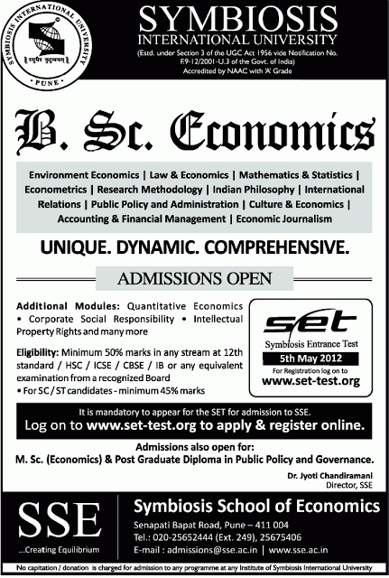 symbiosis national aptitude test Symbiosis international university, officially symbiosis international (deemed university), is a deemed to be university located in pune, maharashtra, india.