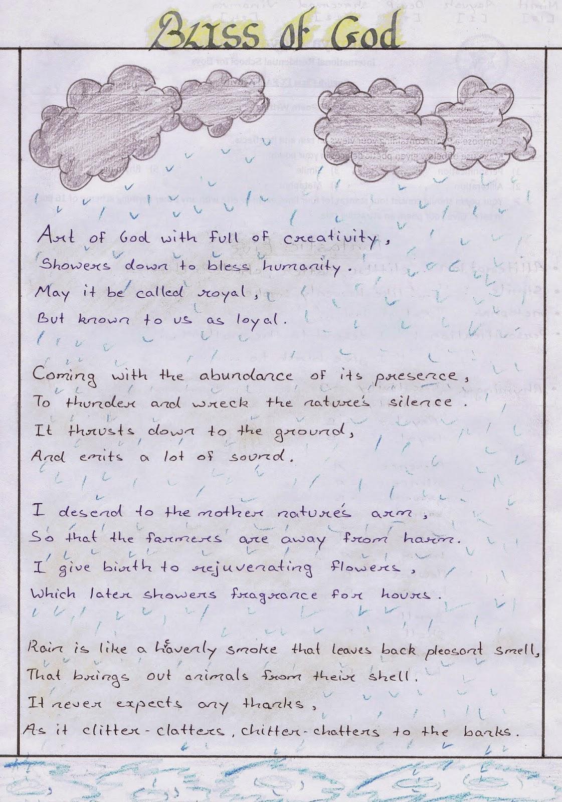 Budding Poets of Class IX - Atmiya Vidya Mandir
